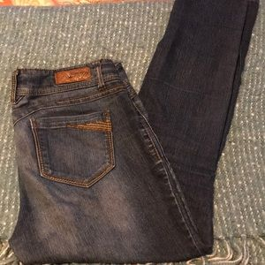 Stretchy one button jeans-13